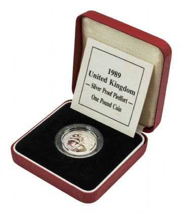 1989 Silver Proof Piedfort One Pound